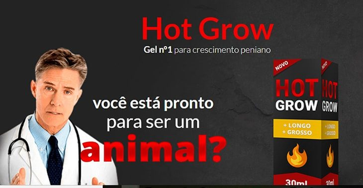 Gel para aumentar o pênis – Hot Grow